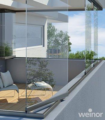 Eine Überdachung macht mehr aus Balkon und Loggia