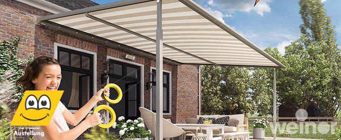 sunrain markise sch tzt sicher vor sonne und regen. Black Bedroom Furniture Sets. Home Design Ideas